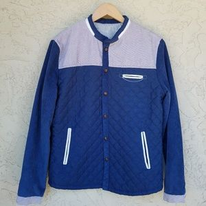 Newport Blue Quilted Corduroy Western Jacket